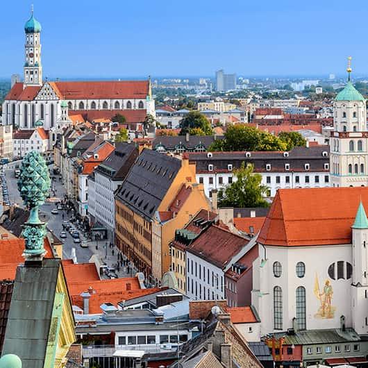 Ausflug nach Augsburg - Ausblick auf die Altstadt