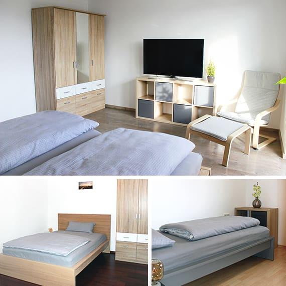 3 Schlafzimmer stehen zur Verfügung